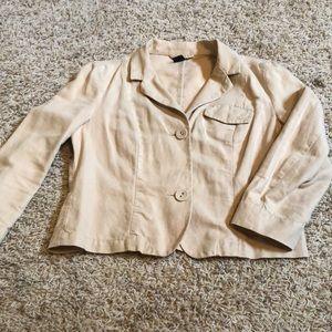 Gap linen blend jacket